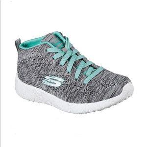 Skechers Brust Divergent Gray Blue Shoes